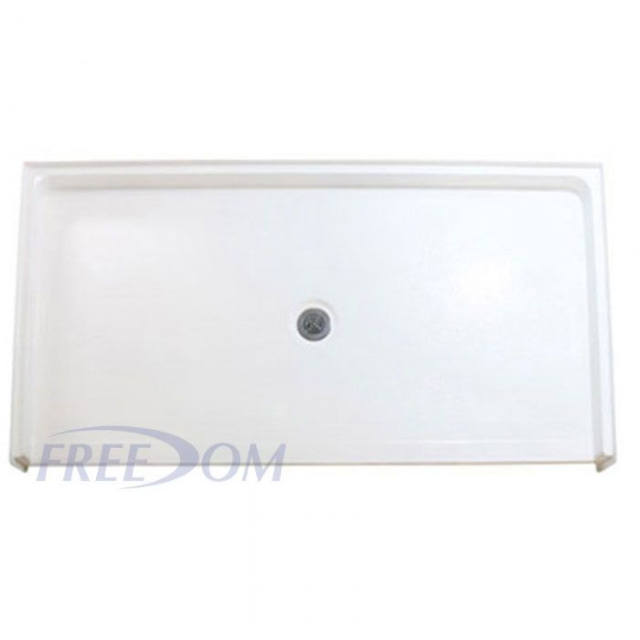 62 7/16u201d X 32 1/4u201d Freedom ADA Shower Pan, CENTER Drain