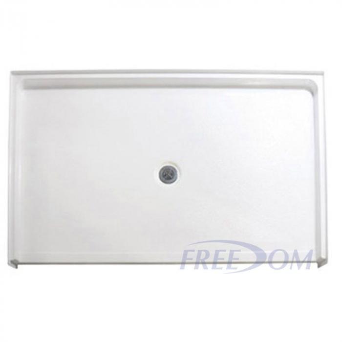 freedom ada shower base center drain 62 3 8 x 38 1 4. Black Bedroom Furniture Sets. Home Design Ideas