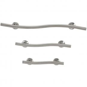 Freedom wave grab bar package, satin stainless