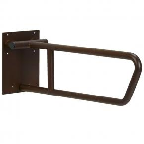 bronze swing up side of toilet grab bar 30 inch