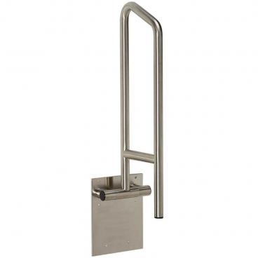 grab bar that swings up beside the toilet