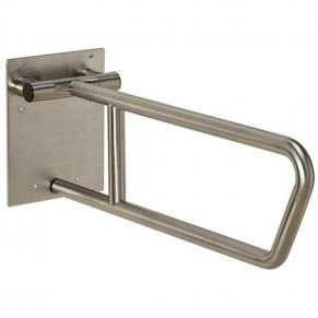 side of toilet grab bar, swing up, satin stainless
