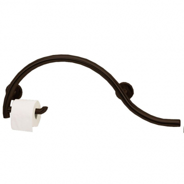 side of toilet grab bar with toilet roll holder bronze