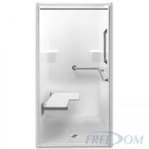 Freedom ADA Transfer Shower, Right Valve, 1 Piece, 39 x 39.5 inches