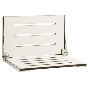 High Back Decorator Shower Seat Phenolic WHITE