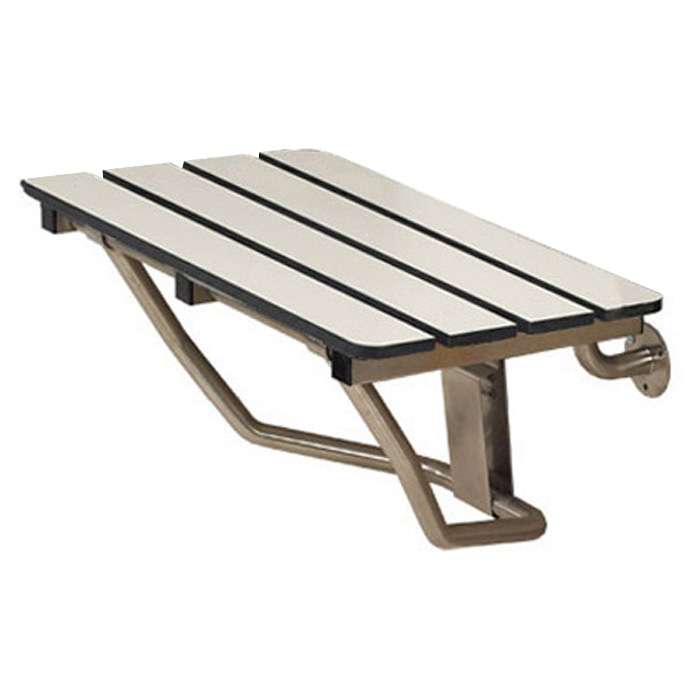 Freedom folding shower bench, wall mounted 28\