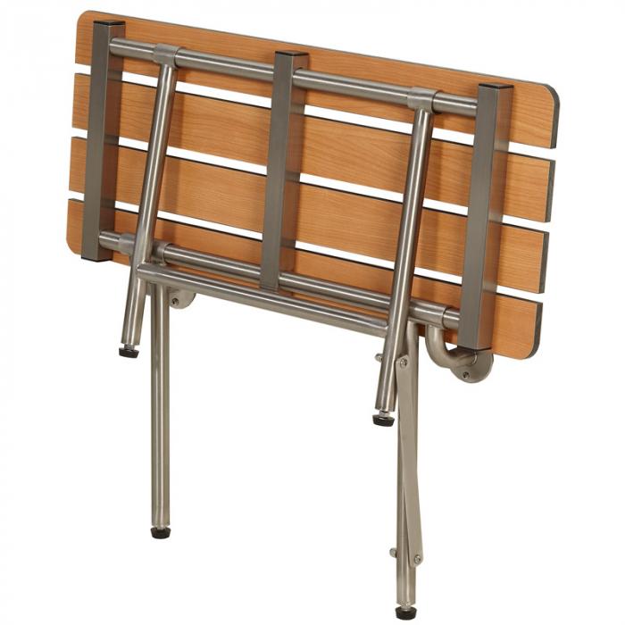 Freedom Folding Shower Bench With legs, Slatted TEAK (32\