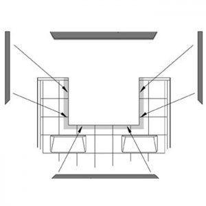 Window Trim Kit with header, White