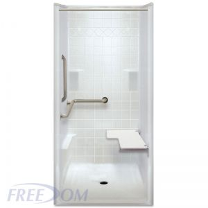38 inch x 39 inch Freedom ADA Transfer Shower, Left Valve