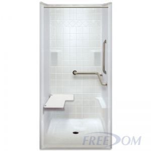 38 X 39 inches Freedom ADA Transfer Shower, Right Valve
