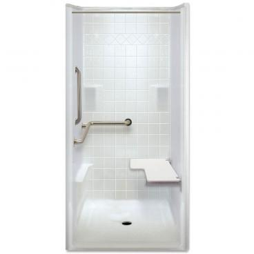 ADA Transfer Shower, Left Valve wall, 1 Piece, 40 x 39.5 inches