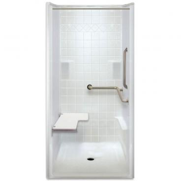 ADA Transfer Shower, Right Valve wall, 1 Piece, 40 x 39.5 inches