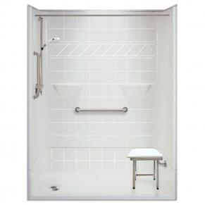 54 x 31 inches Freedom Accessible Shower, Left Drain