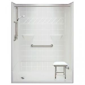 "54"" x 31"" Freedom Accessible Shower, Left Drain, 4-piece"