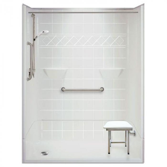 Freedom Accessible Shower, Left Drain, 4 Piece (54\