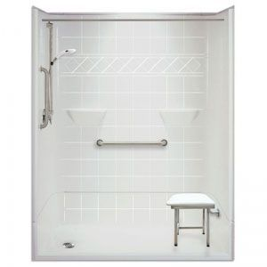 60 x 31 inches Freedom Accessible Shower, Left Drain