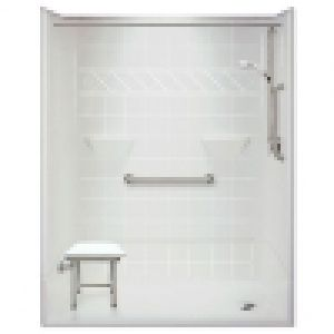 54 x 31 inches Freedom Accessible Shower, Right Drain