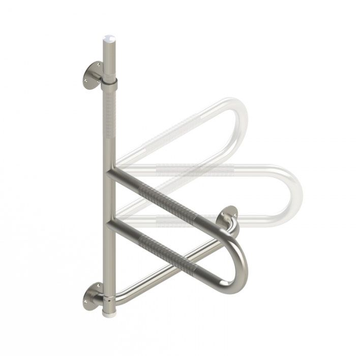 Bath Safety Grab Bar, knurled stainless finish