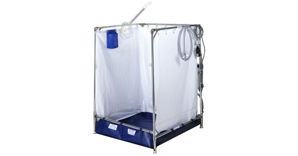 Portable Indoor Showers : Indoor portable showers for wheelchair access temporary