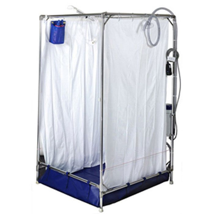 Portable Indoor Showers : Ems stand up portable shower