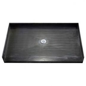 60 x 37 inch Tile Ready Accessible Shower Pan, Center drain