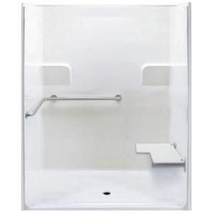 Freedom ADA Roll In Shower, Right Seat, 1 Piece, 62 x 39.5 inches
