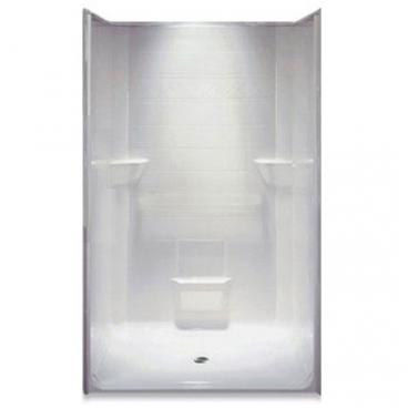 Freedom Accessible Shower, Center Drain, 1 Piece, 48 x 37 inches