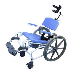 self propelled tilt shower chair with 15 inch seat