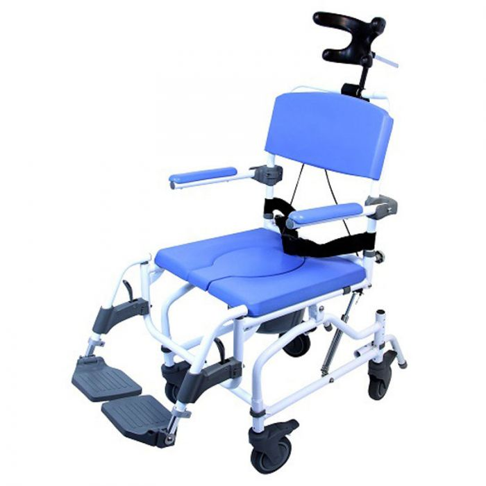 pediatric rolling commode chair with tilt feature 15 wide seat
