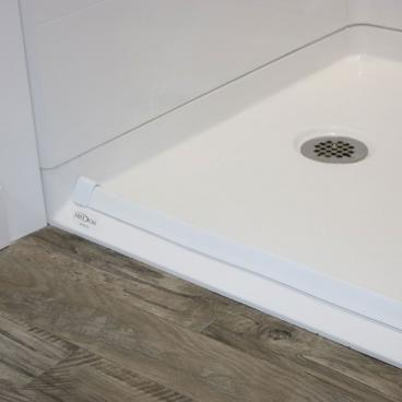 bevelled threshold shower pan