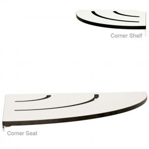 corner seat and shelf