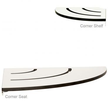 corner seat and shelf