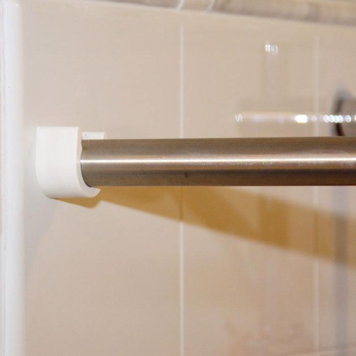 Stainless Steel Curtain Rod With U Cup Holders