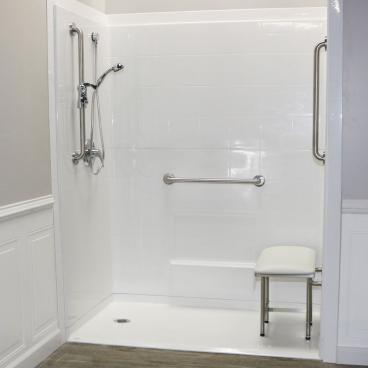 5 piece shower with no curb
