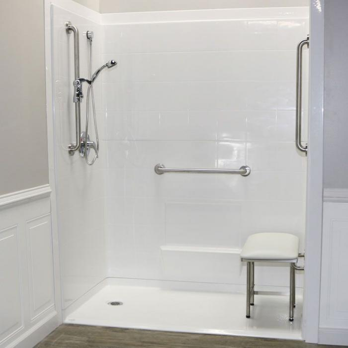 Freedom Accessible Shower, Left Drain, 5 Piece (60\