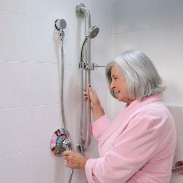 hand held shower with glide bar