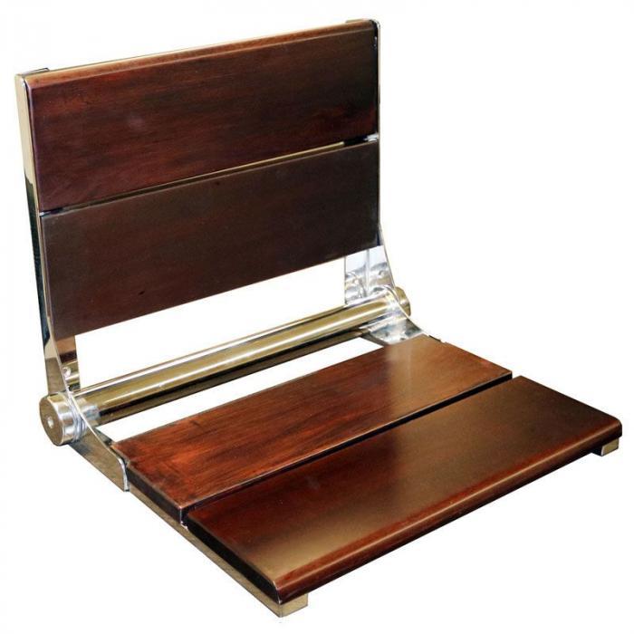 Walnut Fold Up Shower Seat, 26\