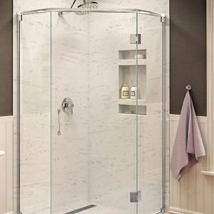 recessed shelf for shower
