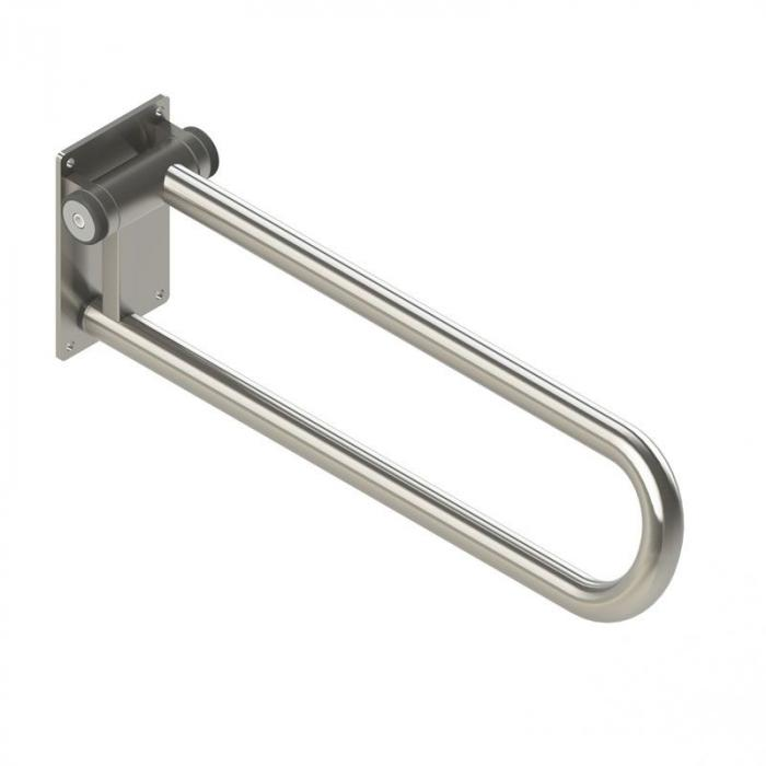 Fold up Side of Toilet Grab Rail, stainless finish