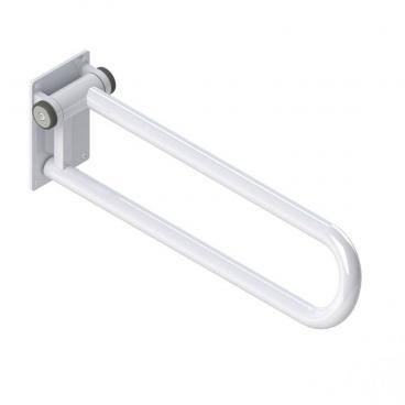 Fold up Side of Toilet Rail, White
