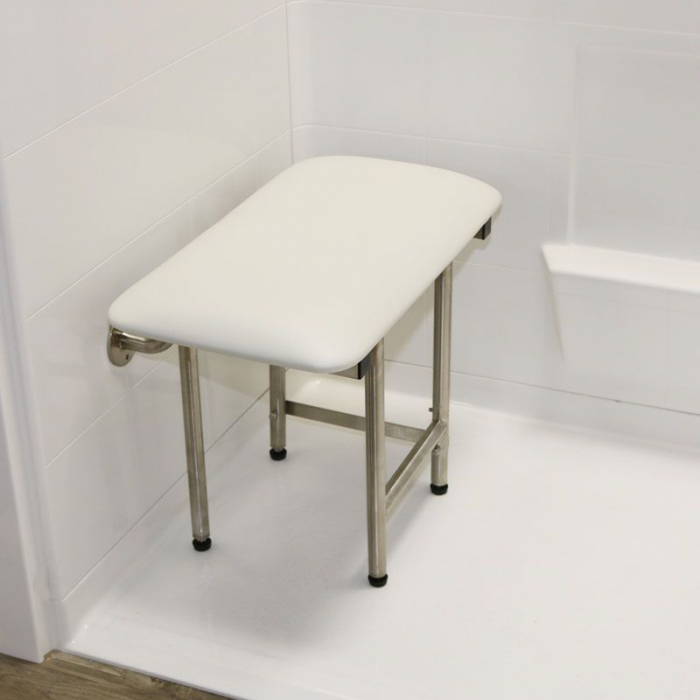 Handicapped Accessible Foldable Shower Seats, Padded WHITE
