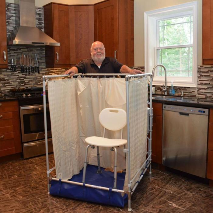 Indoor Portable Showers for Wheelchair Access, Temporary Shower