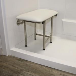 temporary threshold for barrier free shower