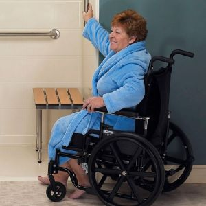 wheelchair shower with seat