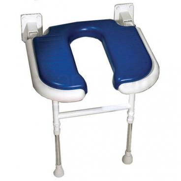 U Shaped folding shower seat BLUE Pad
