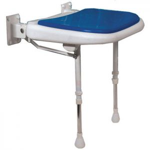 Folding Shower Seat blue pad