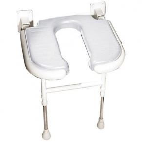 Wide U Shaped folding shower seat GRAY Pad