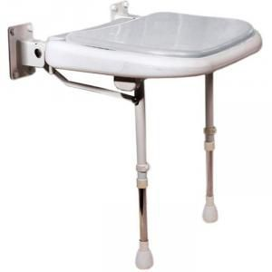 Wide Folding Shower Seat GRAY Pad