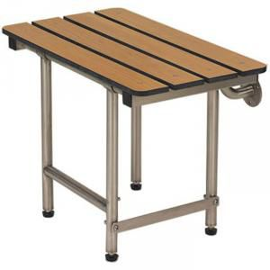 "18"" x 15"" Folding Bench with legs, Phenolic Slatted TEAK"