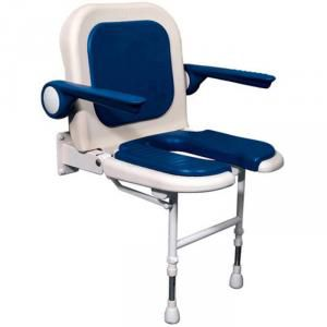 U Shaped Shower Seat with Back and Arms